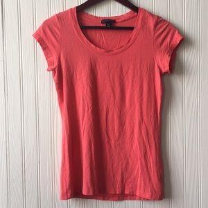 Coral T-shirt Carole Little Tee Size L